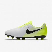Chaussures de sport Nike Magista Ola II FG homme Blanc/Volt/Gris loup/Noir