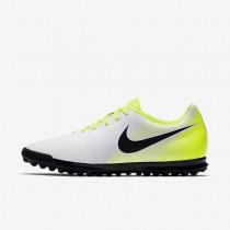 Chaussures de sport Nike Magista Ola II TF homme Blanc/Volt/Gris loup/Noir