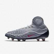 Chaussures de sport Nike Magista Obra II SE FG homme Gris froid/Gris loup/Blanc/Rouge intense