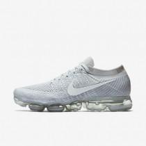 Chaussures de sport Nike Air VaporMax Flyknit homme Platine pur/Gris loup/Blanc