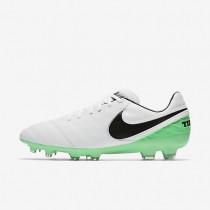 Chaussures de sport Nike Tiempo Legacy II FG homme Blanc/Vert Electro/Noir