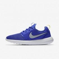 Chaussures de sport Nike Roshe Two homme Bleu souverain/Vert citron électrique/Blanc/Gris loup