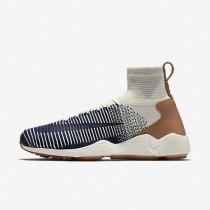 Chaussures de sport Nike Zoom Mercurial Flyknit homme Voile/Gris pâle/Gomme marron/Bleu marine collège