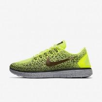 Chaussures de sport Nike Free RN Distance Shield homme Volt/Gris foncé/Noir/Bronze rouge métallique
