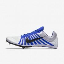 Chaussures de sport Nike Zoom D homme Blanc/Bleu coureur/Noir