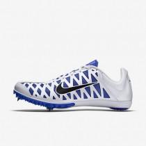 Chaussures de sport Nike Zoom Maxcat 4 homme Blanc/Bleu coureur/Noir