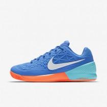 Chaussures de sport Nike Court Zoom Cage 2 Clay homme Bleu moyen/Bleu polarisé/Hyper orange/Blanc