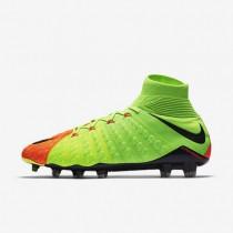 Chaussures de sport Nike Hypervenom Phantom 3 DF FG homme Vert électrique/Hyper orange/Volt/Noir