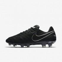 Chaussures de sport Nike Tiempo Legend VI Tech Craft 2.0 FG homme Noir/Noir