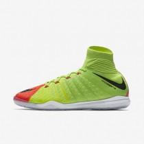Chaussures de sport Nike HypervenomX Proximo II Dynamic Fit IC homme Vert électrique/Hyper orange/Volt/Noir