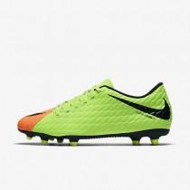 Chaussures de sport Nike Hypervenom Phade 3 FG homme Vert électrique/Hyper orange/Volt/Noir