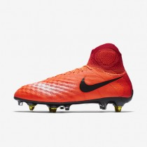 Chaussures de sport Nike Magista Obra SG-PRO Anti Clog Traction homme Cramoisi total/Rouge université/Mangue brillant/Noir