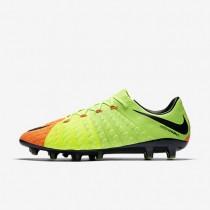 Chaussures de sport Nike Hypervenom Phantom 3 AG-PRO homme Vert électrique/Hyper orange/Volt/Noir