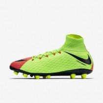 Chaussures de sport Nike Hypervenom Phatal 3 DF AG-PRO homme Vert électrique/Hyper orange/Volt/Noir