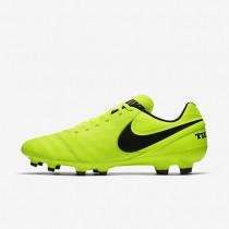 Chaussures de sport Nike Tiempo Genio II Leather FG homme Volt/Volt/Noir