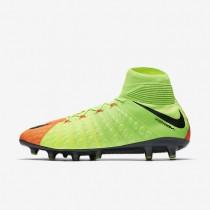 Chaussures de sport Nike Hypervenom Phantom 3 DF AG-PRO homme Vert électrique/Hyper orange/Volt/Noir