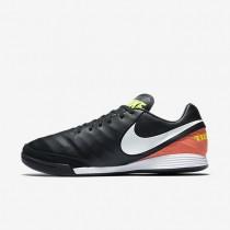 Chaussures de sport Nike Tiempo Mystic V IC homme Noir/Hyper orange/Volt/Blanc
