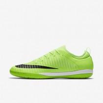 Chaussures de sport Nike MercurialX Finale II IC homme Citron flash/Blanc/Gomme marron clair/Noir