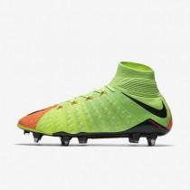Chaussures de sport Nike Hypervenom Phantom 3 DF SG-PRO homme Vert électrique/Hyper orange/Volt/Noir