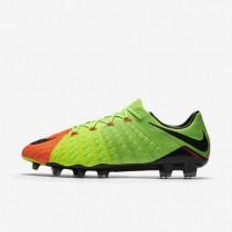 Chaussures de sport Nike Hypervenom Phantom 3 FG homme Vert électrique/Hyper orange/Volt/Noir
