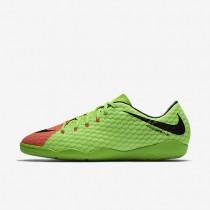 Chaussures de sport Nike HypervenomX Phelon 3 IC homme Vert électrique/Hyper orange/Volt/Noir
