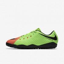 Chaussures de sport Nike HypervenomX Phelon 3 TF homme Vert électrique/Hyper orange/Volt/Noir