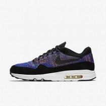 Chaussures de sport Nike Lab Air Max 1 Flyknit homme Bleu coureur/Mauve vif/Voile/Noir