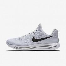 Chaussures de sport Nike LunarEpic Low Flyknit 2 femme Blanc/Platine pur/Gris loup/Noir