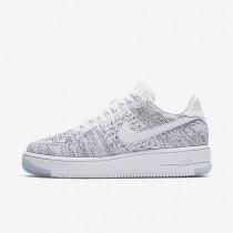 Chaussures de sport Nike Air Force 1 Flyknit Low femme Blanc/Noir/Blanc