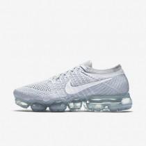 Chaussures de sport Nike Air VaporMax Flyknit femme Platine pur/Gris loup/Blanc