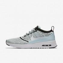 Chaussures de sport Nike Air Max Thea Flyknit femme Bleu glacier/Noir/Blanc