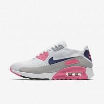 Chaussures de sport Nike Air Max 90 Ultra 2.0 Flyknit femme Blanc/Rose laser/Noir/Harmonie