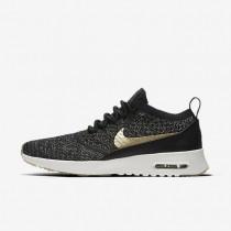 Chaussures de sport Nike Air Max Thea Ultra Flyknit Metallic femme Noir/Ivoire/Étoile d'or métallique