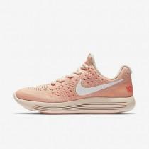 Chaussures de sport Nike LunarEpic Low Flyknit 2 IWD femme Orange pâle/Hyper orange/Crépuscule brillant/Blanc