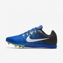 Chaussures de sport Nike Zoom Rival D 9 femme Hyper cobalt/Noir/Vert ombre/Blanc