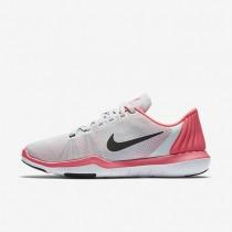 Chaussures de sport Nike Flex Supreme TR 5 femme Platine pur/Rose coureur/Gris loup/Noir