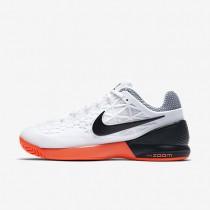 hot sale online 71893 fe01a Chaussures de sport Nike Court Zoom Cage 2 femme Blanc Hyper orange Noir