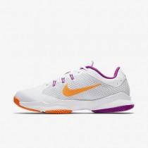 Chaussures de sport Nike Court Air Zoom Ultra Clay femme Blanc/Platine pur/Mauve vif/Aigre