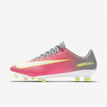Chaussures de sport Nike Mercurial Vapor XI FG femme Hyper rose/Gris loup/Aigre/Blanc