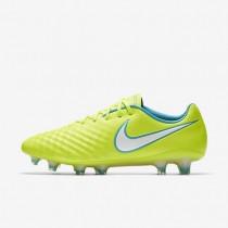 Chaussures de sport Nike Magista Opus II FG femme Volt/Jaune pâle électrique/Bleu chlorine/Blanc