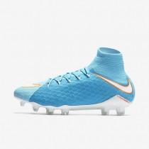 Chaussures de sport Nike Hypervenom Phatal 3 DF FG femme Bleu polarisé/Bleu chlorine/Aigre/Blanc