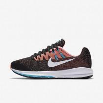 Chaussures de sport Nike Air Zoom Structure 20 femme Noir/Rouge lave brillant/Bleu chlorine/Blanc