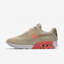 Chaussures de sport Nike Air Max 90 Ultra 2.0 femme Flocons d'avoine/Blanc/Gris foncé/Rouge lave brillant
