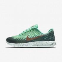 Chaussures de sport Nike LunarGlide 8 Shield femme Vert phosphorescent/Vert céladon/Vert ombre/Bronze rouge métallique