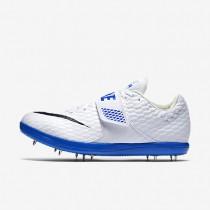 Chaussures de sport Nike High Jump Elite femme Blanc/Bleu coureur/Noir