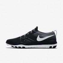 Chaussures de sport Nike Free TR Focus Flyknit femme Noir/Gris froid/Blanc
