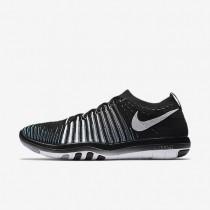 Chaussures de sport Nike Free Transform Flyknit femme Noir/Gris loup/Gris foncé/Blanc