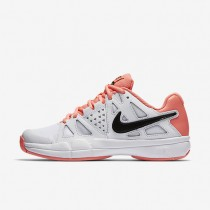 Chaussures de sport Nike Court Air Vapor Advantage femme Blanc/Rouge lave brillant/Noir