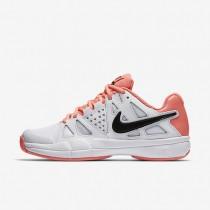 Chaussures de sport Nike Court Air Vapor Advantage femme Blanc/Rouge lave brillant/Noir