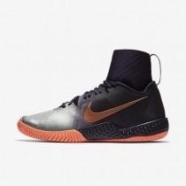 Chaussures de sport Nike Court Flare femme Violet dynastie/Mangue brillant/Argent métallique/Or rose métallique